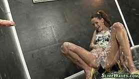 Gloryhole whore slimed Porn Movies