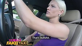 FemaleFakeTaxi Big tits blonde cabbie milf fucks young stud on backseat Porn Videos