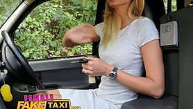 FemaleFakeTaxi Drivers tight body covered in cum